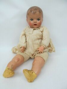Antique Large Composition Baby Doll w/ Sleepy Eyes