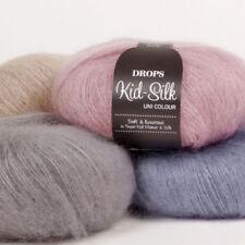 SALE-DROPS KID-SILK 75%KID MOHAIR 25%SILK LUXURY GLOSSY FLUFFY Knitting Yarn 25g