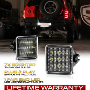 For 2016-21 Toyota Tacoma/14-21 Tundra Full LED Black License Plate Lights Lamps