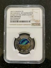 Canada 2017 2$ My Canada My Inspiration Dance Of The Spirits Glow NGC Coin