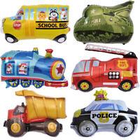 Gift Foil Balloon School Cartoon Car Fire Truck Birthday Party Decor Home US rr