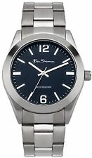 Ben Sherman BS118 Stainless Steel Quartz Watch Blue Dial Silver Men's B'day 40mm