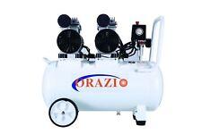 ORAZIOⓇ  Silent Type Oilless Air Compressor 50L 2 Motors Garage Workshop Clinic