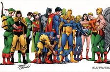 Jerry Ordway SIGNED JLA JSA Comic Art Print Superman Batman Wonder Woman