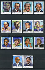 Barbados 2016 MNH Builders of Barbados Definitives 14v Set Garry Sobers Stamps