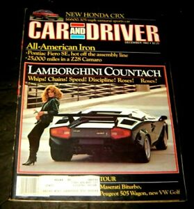DECEMBER 1983 CAR AND DRIVER MAGAZINE LAMBORGHINI COUNTACH, HONDA CRX