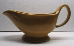 POTTERY BARN Sausalito AMBER Yellow Gold Gravy Boat Bowl - EXCELLENT CONDITION