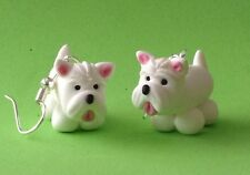 Fun fatto a mano fimo Scottie Dog Orecchini Pet Animale Carino Terrier le Madri Giorno