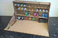large paint station, model work warhammer 40k airfix vallejo rack stand citadel