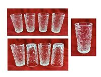 Vintage Anchor Hocking Drinking Juice Glass 4 oz Clear MILANO Set of 4