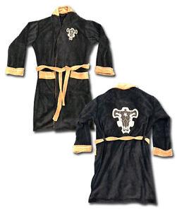 *Legit* Black Clover Black Bulls Logo Authentic Adult Hooded Bathrobe #12040