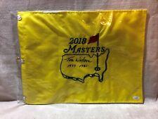 Tom Watson Signed 2018 Augusta Masters Golf Pin Flag 1977 1981 Dates JSA EE24935