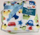 Gentle Steps (Swiggles) CARS TRUCKS BUS Luxe Fleece Baby Blanket Transportation