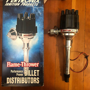 Pertronix Distributor D100700; Flame-Thrower Vacuum Advance for Chevy billet