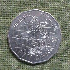 1988  AUSTRALIAN CIRCULATED 50 CENT , FIRST FLEET