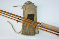"VINTAGE HARDY VISCOUNT GREY SPLIT CANE FLY ROD 10' 6"" + SPARE TIP MINT / NEW ?"