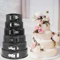 1pcs ROUND SPRING FORM CAKE TINS BAKING PAN NON STICK CARBON STEEL 4-10inch