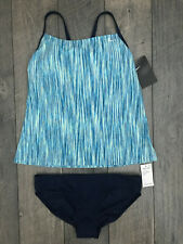NIKE Tankini & Bottom Two-Piece Swimsuit Womens Size Medium Blue Green NWT $100