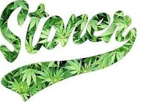 Stoner Mary Jane Weed Sticker Decal GREEN