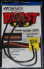 OWNER 5130-201 BEAST with TWISTLOCK Hooks Size 10/0 XXX Strong Big Gap Pack of 2