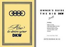 Auto Union 1958 - 1958 Auto Union How to Drive Your DKW - Big DKW 3-6