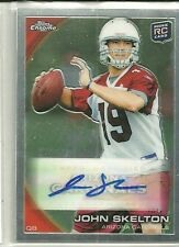 2010 Topps Chrome Football John Skelton Autographed Rookie Card # C218