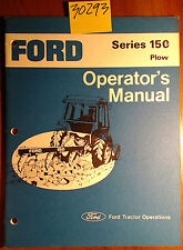 Ford New Holland Series 150 Plow Owner's Operator's Manual Se 4534-B 8784 8/78