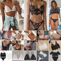 New Women Lace Bralet Bra Bustier Crop Top Cami Underwear Sleepwear Lingerie Set