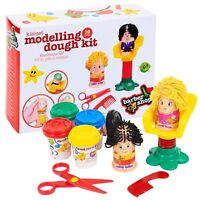 16 Piece Clay Craft Dough Hairdressing Gift Set Tubs & Shapes Children Toys Xmas