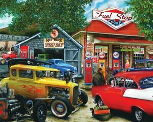 Springbok's 1000 Piece Jigsaw Puzzle Hot Rod Cafe - Made in USA