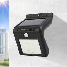 Solar powered valla exterior luz movimiento PIR Sensor pared jardín seguridad ES