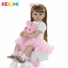 Realistic 24 Inch Cute Reborn Lovely 60 Cm Soft Silicone Reborn Babies Doll