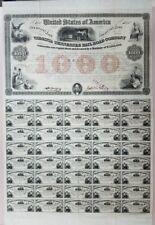 $1000 Virginia and Tennessee Rail Road Company 6% Loan - 1853