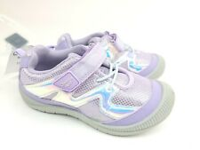 OshKosh Bgosh Girls Hook Loop Purple Shoes, Toddler Size 11