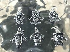 BARNUM & BAILEY CIRCUS JEWELRY 6 CLOWNS PEWTER CHARMS 6 STYLES ALL NEW.