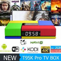 S912 T95K Pro 2G+16G 4K  Smart TV Box Android 6.0 Octa Core KO-DI Media Player