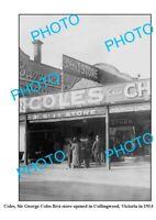 OLD 6 X 4 PHOTO COLES DEPARTMENT STORE 1st SHOP 1914 COLLINGWOOD VICTORIA