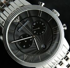 EMPORIO ARMANI MEN'S WATCH  AR1617 CHRONOGRAPH-BRAND NEW WITH CERTIFICATE