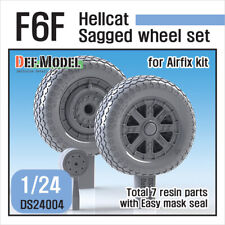 DEF. MODEL  DS24004, F6F Hellcat Wheel set (for Airfix 1/24), SCALE 1/24