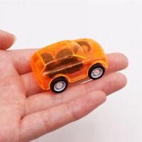 5Pcs Car Model Toys Mini Inertia Pull Back Car Transparent Multi-color For Child