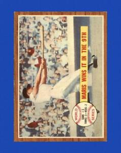 1962 Topps Set Break #234 Roger Maris WS3 EX-EXMINT *GMCARDS*