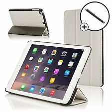 Leather White Smart Folding Case Cover for Apple iPad Air and Stylus