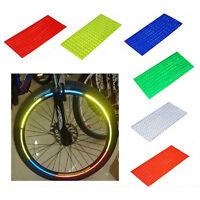 Bike Riding Bicycle Cycling Wheel Spoke Reflector Reflective Mount Sticker SD