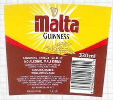 GHANA Guinness Ghana,Kumasi MALTA GUINNESS beer label C1601