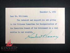 President Herbert Hoover signed 3x5 cut JSA LOA From Letter Content Z300