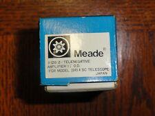 Meade telescope eyepieces 126:2 telenegative amplifier 1 1/4 od & Meade Or 9mm