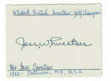 Jess Sweetser Signed Card / Autographed Golf 1922