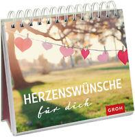 Tischkalender Herzenswünsche für Dich, Aufstellkalender für den Schreibtisch