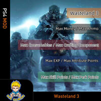 Wasteland 3 (PS4 Mod)-Max Money/Ammo/Consumables/Component/EXP/SP/PP/AP