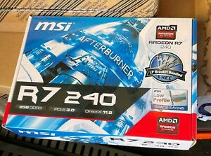 Computer graphics video card MSI R7240 2GD3 LP AMD R7 240 2GB DDR3